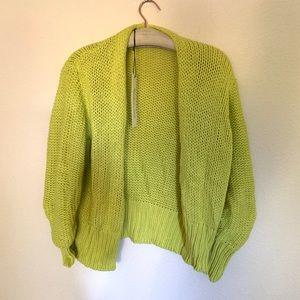 Mustard Seed Sweaters - Lime knit cardigan sweater